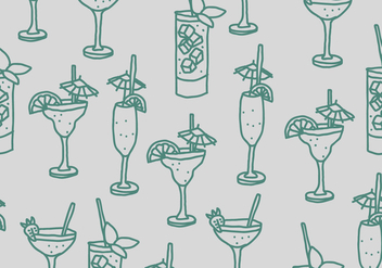 Drinks Pattern - vector gratuit #401373