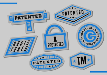 Patent Stamps Vector Art - Free vector #401403
