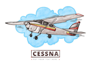 Free Cessna Watercolor Background - бесплатный vector #401683