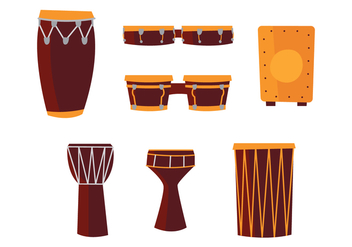 African Drums - Free vector #401693
