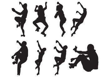 Free Climber Silhouettes Vector - vector gratuit #401723