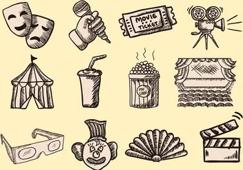 Hand Drawn Doodle Theatre - Kostenloses vector #401943
