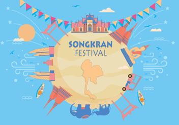 Songkran Festival Vector - Kostenloses vector #402393