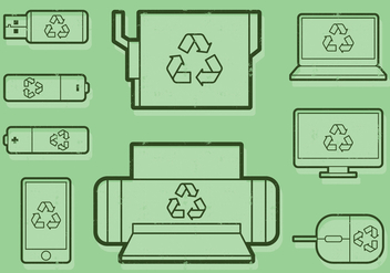 Recycling Office Icon - vector #402493 gratis