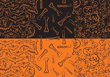 Halloween Patterns - Kostenloses vector #402713