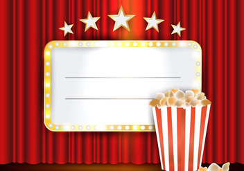 Theater Red Curtains With Lightning - Free vector #402723