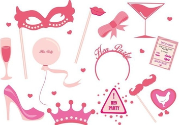 Free Hen Party Ladies Night Party Vector - vector gratuit #402803
