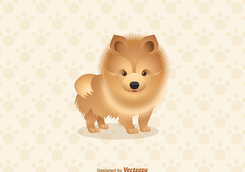 Free Pomeranian Dog Vector Illustration - Free vector #402853