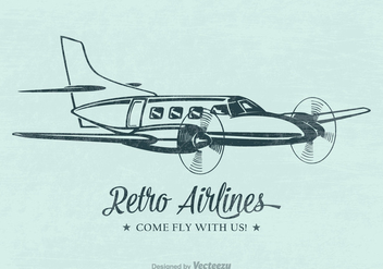 Free Retro Airplane Vector Poster - Free vector #402863