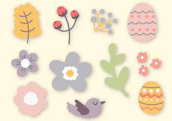 Free Easter Elements Vector - Free vector #402903