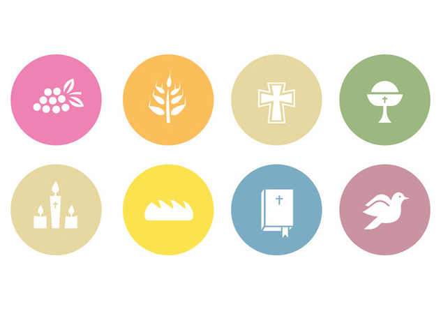 Comunion vector icons - Free vector #402983