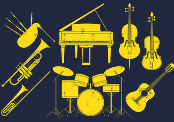 Musical Instruments - Free vector #403043
