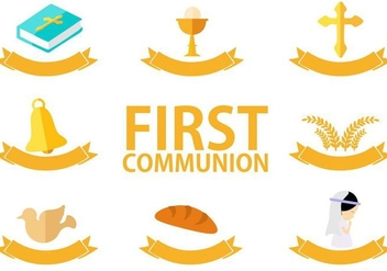 Free First Communion Vector - Kostenloses vector #403073