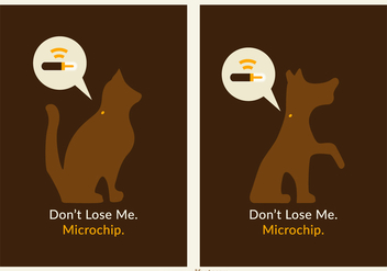 Free Pets Microchip Vector Poster - Free vector #403093