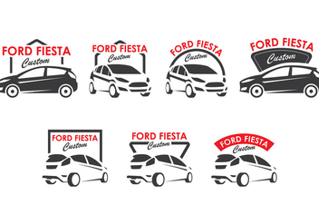Ford Fiesta Logo Collection - бесплатный vector #403103