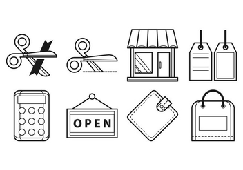 Free Opening Shop Icon Vector - Free vector #403173