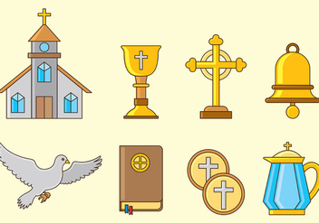 Set Of Comunion Icons - Free vector #403203