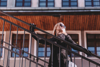 Street style shoot on stairs - image #403273 gratis