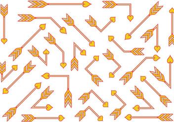 Orange Flechas Vector - Free vector #403303