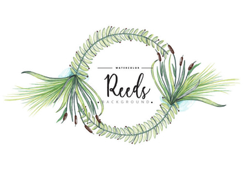 Free Reeds Wreath Background - vector gratuit #403603