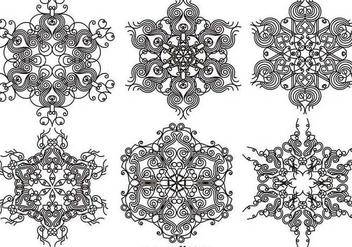 Elegant Ornamental Snowflakes - Vector set - Kostenloses vector #403623
