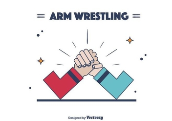 Arm Wrestling Vector - Free vector #403673