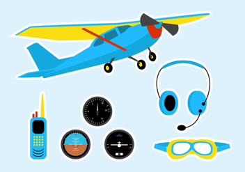 Cessna Stuff Vector Set - Free vector #403953