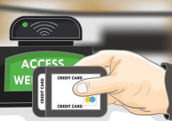 Payment With Rfid Illustration - vector gratuit #404113