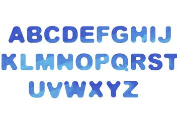 Watercolor Font Vector - Free vector #404123