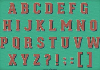 Retro Vintage Vector Alphabet - Kostenloses vector #404173