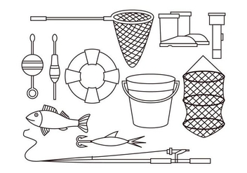 Free Fishing Net Vector - Free vector #404263