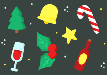 Free Christmas Elements Vector - vector #404283 gratis