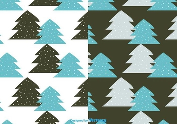 Winter Trees Pattern Vector - vector gratuit #404333