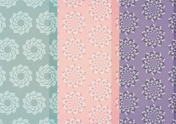 Vector Floral Patterns - Kostenloses vector #404693