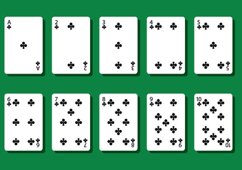 Club Poker Card Vectors - Free vector #404803