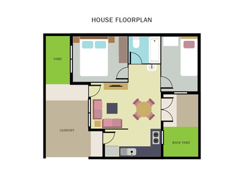 House Floorplan - vector #404813 gratis