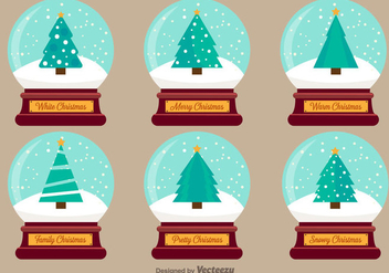 Christmas Snow Ball Vector Illustrations - Free vector #404913