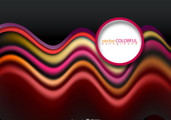 Vector Pink Red And Orange Abstract Wave Template - vector gratuit #404963
