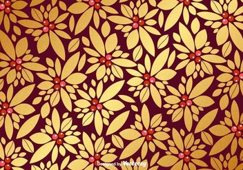 Vector Christmas Golden Pattern - Free vector #404973