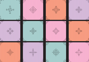 Colorful Toile Small Patterns - vector gratuit #404993