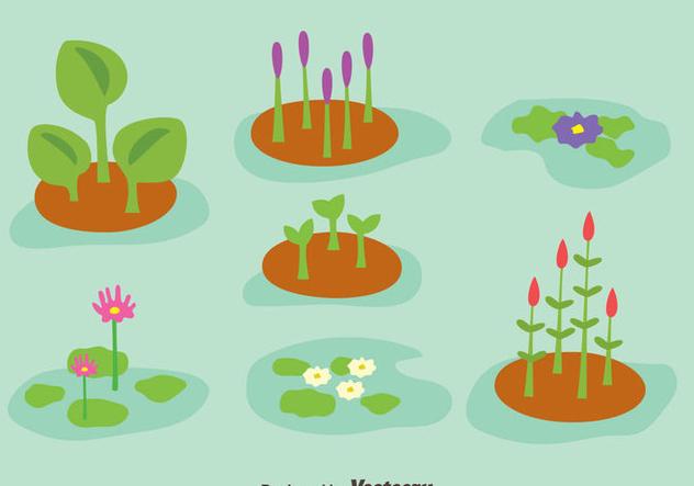Swamp Plant Collection Vector - vector gratuit(e) #405113