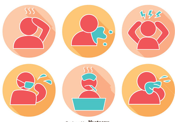 Pain And Affliction Icons Vector - Free vector #405123