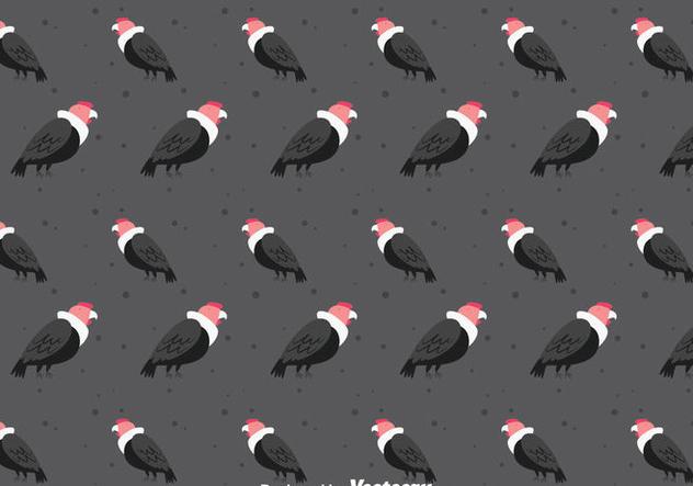 Condor Bird Seamless Pattern - бесплатный vector #405143