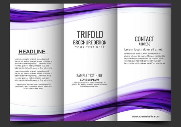 Free Vector tri fold brochure - бесплатный vector #405173