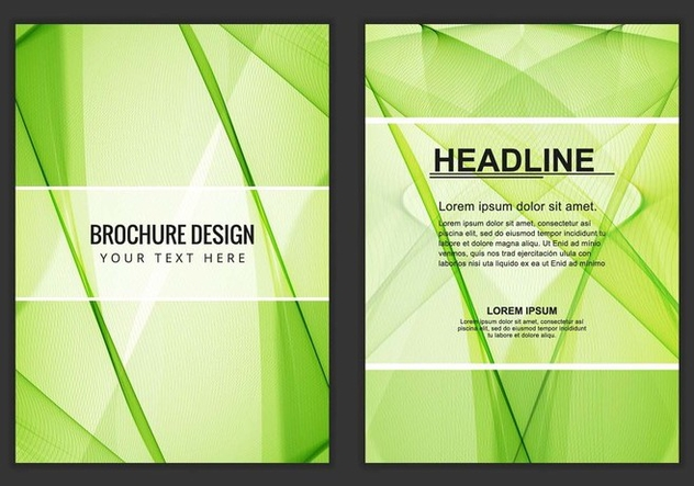 Free Vector Wavy Business Brochure - бесплатный vector #405193