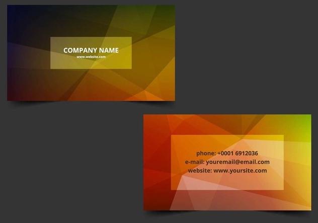 Free Vector Colorful Business Card - бесплатный vector #405203
