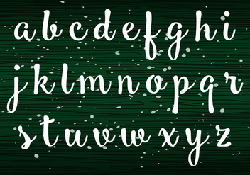 Handwriting Lowercase - Free vector #405223