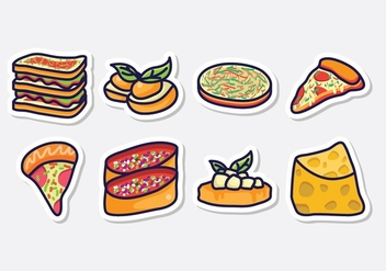 Free Italian Food Icons - vector #405373 gratis