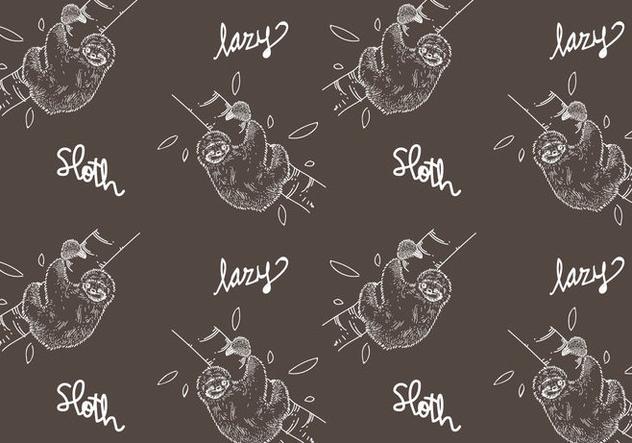 Free Sloth Seamless Pattern Vector Illustration - бесплатный vector #405393