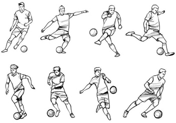 Soccer Player Vectors - Free vector #405483